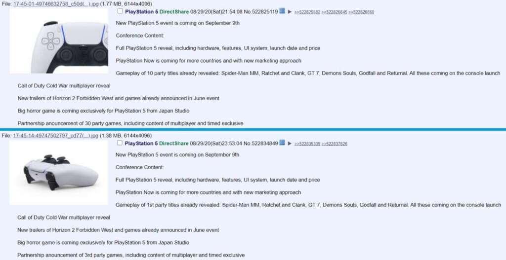 PlayStation 5 leak 4Chan