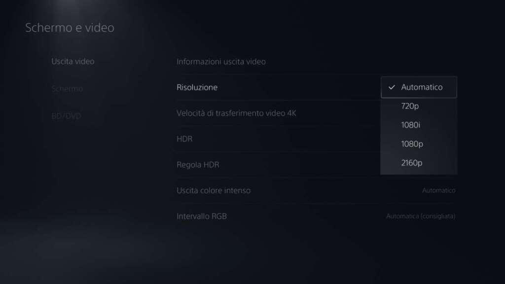 PS5 UX risoluzione no 1440p