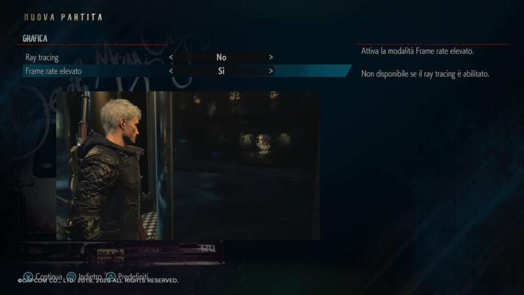 Devil May Cry 5 Special Edition PS5 modalità 120fps