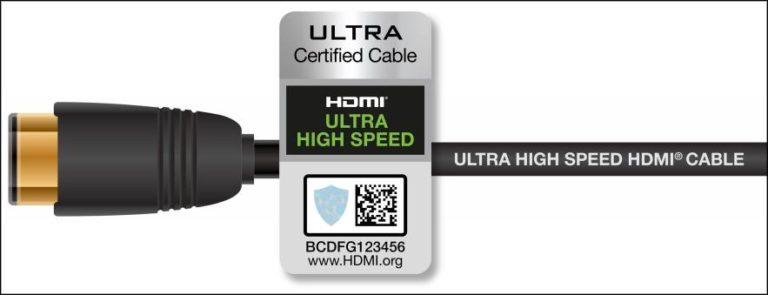 Cavo HDMI Ultra High Speed certificazione