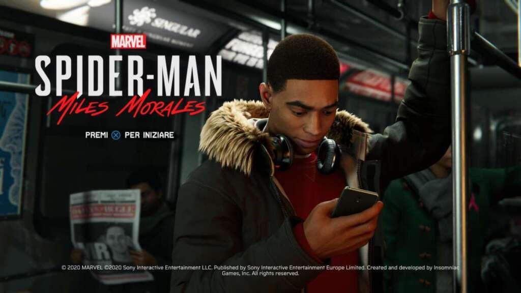 PS5 Marvel's Spider-Man Miles Morales schermata titoli