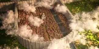 Attacco dei Giganti Shiganshina mappa Minecraft