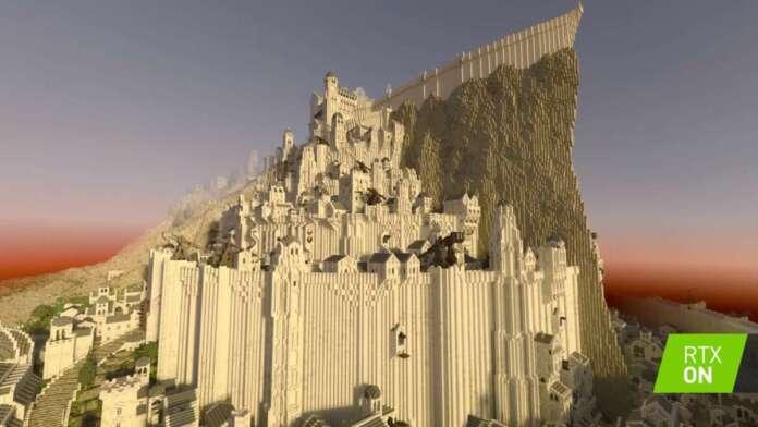 Minecraft Middle-Earth Il Signore degli Anelli Minas Tirith