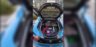 Nvidia RTX 3080 cryptomining BMW i8 1