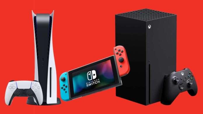 PlayStation 5 Xbox Series X Nintendo Switch