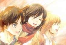 L'Attacco dei Giganti Eren Mikasa Armin amicizia