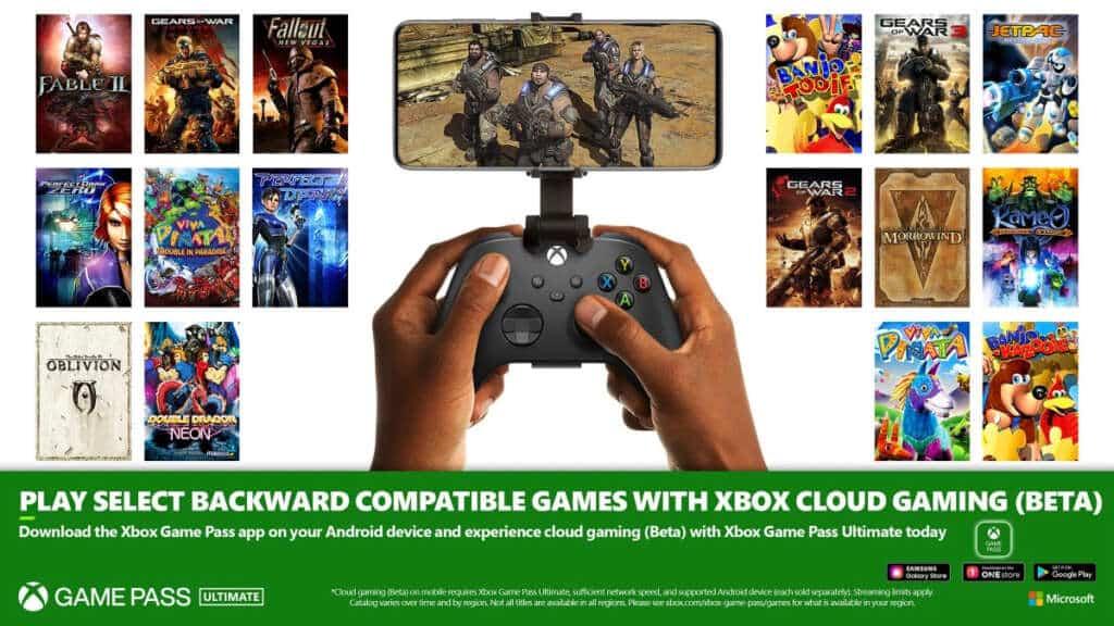 xCloud Xbox Game Pass retrocompatibilità