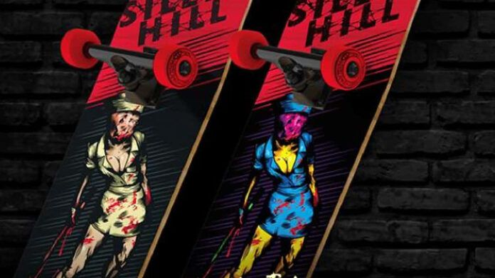 Silent Hill Konami Skateboard