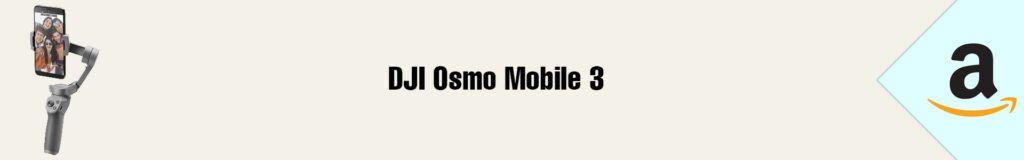 Banner Amazon DJI Osmo Mobile 3