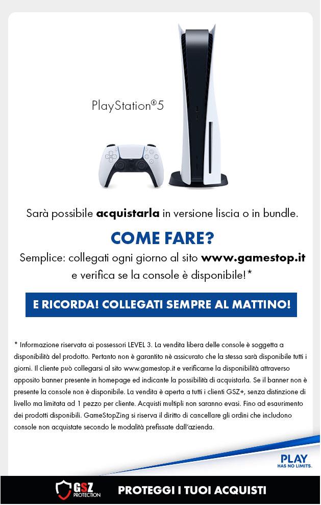 PlayStation 5 Promozione GameStop