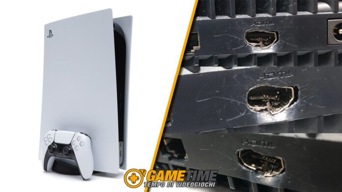 PlayStation 5 Bambino distrugge HDMI 2